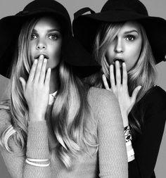Image via We Heart It https://weheartit.com/entry/77237019/via/2512256 #black #hat #models #white