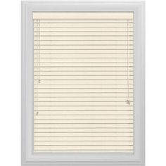 Bali Essentials 2 inch Wood Blind, No Holes, Corded, Winter, White