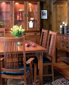 Amish Woodland Mission Dining Chair