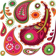 Exotic paisley pattern by Marina Zlochin - Stock Vector