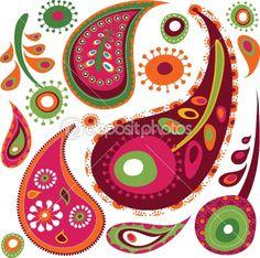 Exotic paisley pattern | Vector stock © Marina Zlochin #3815971