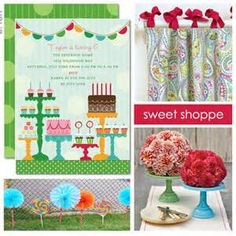 Image detail for -Candy-Themed Sweet Shoppe Birthday Party Ideas | The Party Dress