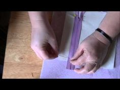 How to Make a Zipper Pocket (Inside Purse Pocket) - wrong side of the pocket fabric facing up