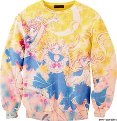Sailor Moon sweater, via Sexy-Sweaters. Holy shnikes I need this!!! It is too cute for words!