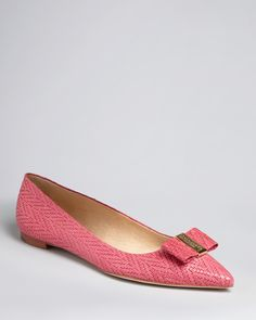 kate spade new york Pointed Toe Ballet Flats