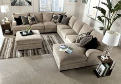 Katisha Platinum Sectional Set