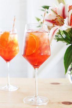 Aperol spritz - Aperol orange liqueur, prosecco, club soda.