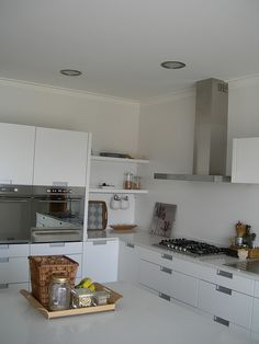 White Kitchen all over | Kitchen drawers, walls, ceilings,