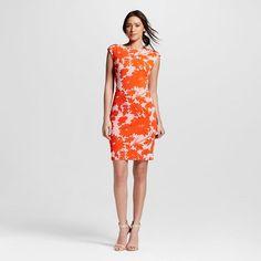 Women's Floral Sheath Dress Orange - Julia Jordan