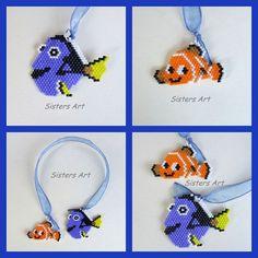 """Segnalibro """"Dory e Nemo"""" realizzato con perline delica utilizzando la tecnica Brick Stitch by Misia Sisters Art #segnalibro #pesci #libro #dory #nemo #disney #cartonianimati #perline #perlinedelica #fattoamano #perlesmiyuki #bookmark #fish #cartoons #book #beads #peyotestitch #miyukibeads #delicabeads #miyukidelica #peyote #brickstitch #miyuki #hademade #madeinitaly #misshobby #sistersart_mm In vendita su: http://www.misshobby.com/it/negozi/sisters-art"""