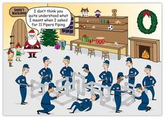 This hilarious plumbing Christmas card will provide a chuckle for all your customers and associates, as well as have them humming a familiar Christmas carol! Christmas Jokes, Christmas Cartoons, Twelve Days Of Christmas, Christmas Carol, Christmas Fun, Christmas Windows, Xmas Jokes, Christmas Comics, Christmas Blessings
