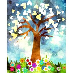 Cross Paintings, Watercolor Paintings, Watercolour, Diamond Drawing, Heart Tree, Watercolor Heart, Colorful Trees, Tree Wall Art, Creative Activities