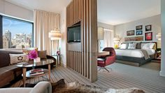 Thompson Chicago: All rooms have cozy seating areas (pictured here in the King Suite).
