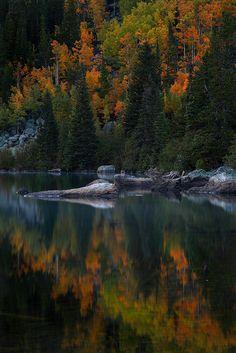 Autumn Reflections : Bear Lake - Rocky Mountain National Park, Colorado