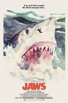 """Posters for """"Jaws"""" - 1975 by Steven Spielberg. Jaws Movie Poster, Horror Movie Posters, Cinema Posters, Horror Films, Horror Art, Scary Movies, Great Movies, Pepsi, Famous Monsters"""