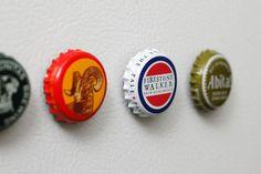 beer cap fridge magnet tutorial