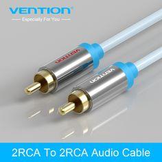 Vention ג 'ק 2 RCA כבל אודיו 2 RCA Aux כבל עבור Edifer קולנוע ביתי DVD VCD iPhone אוזניות