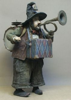 Vladimir Gvozdev - not exactly puppets, but I like these whimsical figures, they have a lot of character.