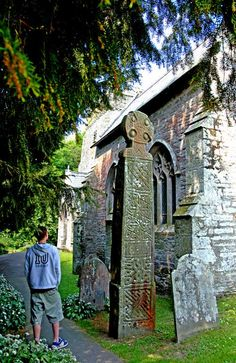 Celtic Cross at Nevern Church, Nevern, Prmbrokeshire, West Wales, UK