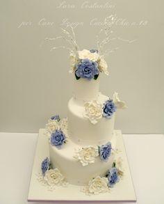 My wedding cake liliac and white
