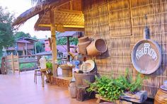 Cafe Interior Design, Cafe Design, Bamboo House Design, Bahay Kubo, Thai House, Bamboo Architecture, Rural House, Cottage, Philippines
