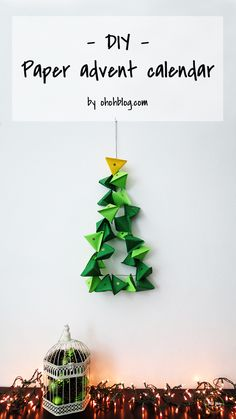 How to make an advent calendar with paper | Ohoh Blog - diy and crafts