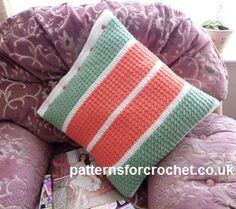Free crochet pattern for Scatter cushion cover http://www.patternsforcrochet.co.uk/scatter-cushion-cover-usa.html #patternsforcrochet