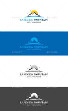 Lakeview Mountain Logo — Vector EPS #adventure #sea • Available here → https://graphicriver.net/item/lakeview-mountain-logo/17450698?ref=pxcr