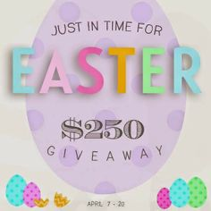 Thoughts of Happiness: Just in Time for Easter Giveaway