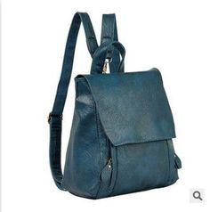 2016 Designer New Black Backpack Mochila Women PU Leather Fashion School Bag for Teenagers Girls Travel Sac A dos Black Red Blue