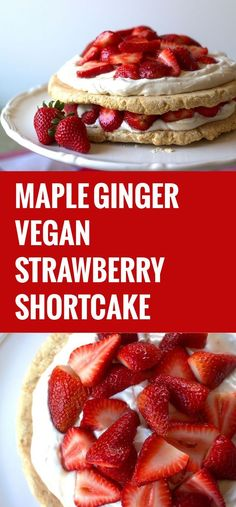 This vegan strawberry shortcake is made with two layers of rich vegan shortbread stacked with coconut whipped cream…