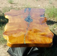 Custom handmade Juniper Live Edge table sold by CLCARTDESIGNS