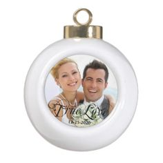 Wedding Anniversary Love Christmas Ball Ornament