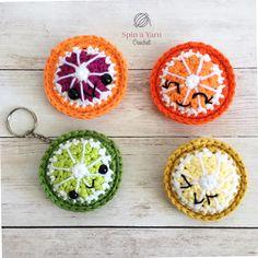 Citrus Fruit Keychain Free Crochet Pattern • Spin a Yarn Crochet