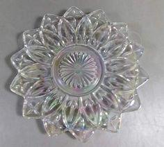 shopgoodwill.com: Pretty Iridescent Flower Like Glass Plate