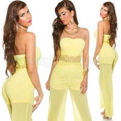 #Sofisticado #monoenterizo #vestidopantalon #peto #overol @mujer #palabradehonor con #transparencias #diseño semi #holgado y #elegante para #coctel #fiesta #eventos. Tejido #elastico en #negro #azul #marron #capuccino #coral #blanco y #amarillo #pastel. Encuentralo en http://nubr.co/IhGh4U #online #shop @agiltienda.com #sexy #fashion