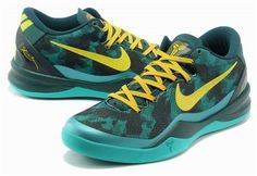 http://www.asneakers4u.com Nike Kobe 8 System Basketball Shoe Green/Yellow0
