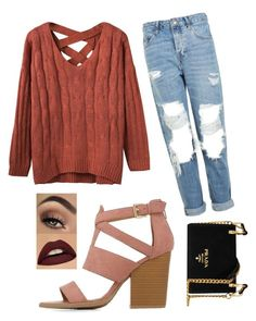 """""""Untitled #344"""" by esmkay ❤ liked on Polyvore featuring Charlotte Russe, Topshop and Prada"""