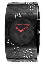 Christian Lacroix 8005502 Women's Ion Plated Stainless Steel Black Dial