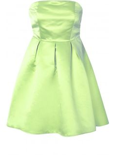 Lime Green Strapless Prom Dress