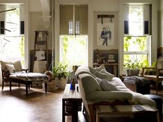 Modern Vintage with Emily Chalmers #InteriorDesign - Yaron