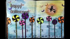 Art Journal Page 109 I wanted to create a halloween page but had no real thought as to how I was going to create it. I just started with colour and went from there. I had a few hiccups along the way, but hey...that's normal for me LOL