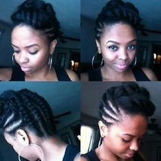 Flat Twists  - Natural Hair #officiallynatural