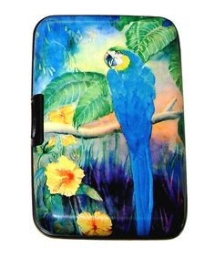 Blue Parrot Armored Wallet