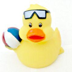 Rubber Beach Ball Duck