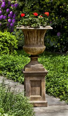 SMITHSONIAN CLASSICAL URN W/ BARNETT PEDESTAL   - See more at: http://www.thegardengates.com/Smith-Classical-Urn-Barnett-Pedestal-p31117.aspx