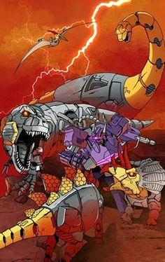 Transformers - Shockwave vs Dinobots by Dmitry Lapaev * Transformers Characters, Transformers Optimus Prime, Cartoon Toys, Cartoon Art, Gi Joe, Transformers Generation 1, Fanart, Vw Touran, Classic Cartoons