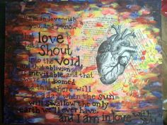 "Mixed media on canvas (with quote from ""The Fault in our Stars"" by John Green). painting by Erin Slaughter"