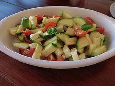 Zucchini - Tomaten - Salat