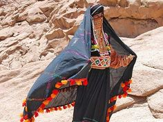 Africa | Southern Sinai, Egypt, Bedouin women with traditional robe | © Martina Dempf